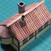 ハウルの動く城にへばりついている家の屋根。山折り山折り谷折り谷折り。